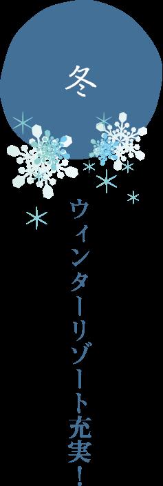 冬 ウィンターリゾート充実!